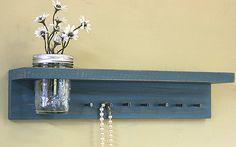 Jewelry Oraganizer/ Jewelry Holder/ Key Rack by GardenCricket