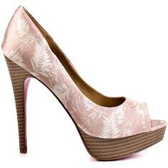 Paris Hilton Women's Debra - Nude Fabric ($86) ❤ liked on Polyvore featuring shoes, pumps, heels, multi color pumps, nude shoes, platform stiletto pumps, high heel platform pumps and nude high heel pumps