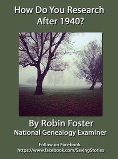"""Looking for clues to researching the most recent ancestor? See """"How Do You Research After 1940?"""" http://www.examiner.com/article/how-do-you-research-after-1940"""
