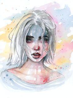 Wash away the colors by tomasz-mro on deviantart art inspo искусство, искус Watercolor Art, Sketches, Art Inspo, Drawings, Illustration Art, Art, Artsy, Portrait Art, Beautiful Art