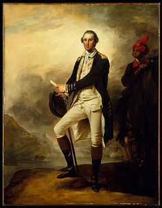 """George Washington"" by John Trumbull (1780) at the Metropolitan Museum of Art, New York - Am I the only one who's wondering who that is in the background on the right side of the canvas?"