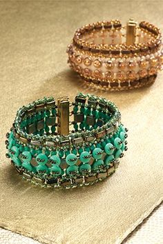 Whistle Stop Bracelet designed by TrendSetter Marcia Balonis, featured in Beadwork, October/November 2014