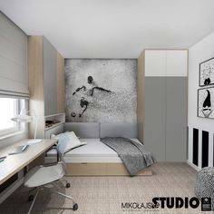 Boys bedrooms furniture can also be fun! Discover more ideas and inspirations with Circu Magical furniture. Small Room Bedroom, Kids Bedroom, Boys Soccer Bedroom, Soccer Room, Small Rooms, Boys Bedroom Furniture, Bedroom Decor, Office Furniture, Furniture Ideas