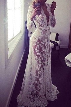 white lace gown | @andwhatelse