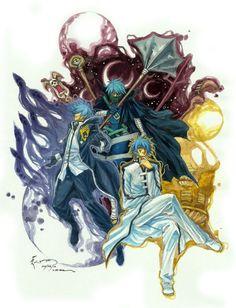 Jellal, Mystogan, and Seigran