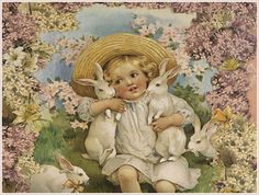 Vintage and Victorian Easter cards