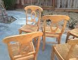 Pottery Barn Napoleon Side Chair Honey