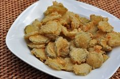 Fried Pickles.  I LOVE fried pickles. adventures-in-cooking-and-eating
