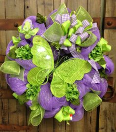 Butterfly wreath by WilliamsFloral on Etsy, $80.00