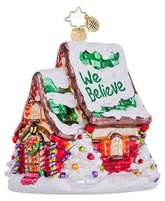 Christopher Radko Christmas Ornament, We Believe