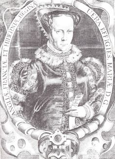 Engraving of Mary I, 1618  Engraving of Mary I by Francis Delaram (after a painting of the School of Hans Eworth). Published in 1618.