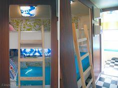 Great bedrooms in retro caravan trailer