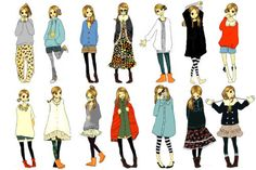 fashion illustration art refer, girl fashion, inspir, girl style, japanes fashion, anime girls, fashion illustrations, fashion sketch, character outfits