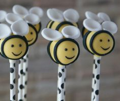 Bumble Bee Cake Pops/bridal shower favor/baby shower favor/birthday party /baby welcome home by SweetBitesBrooklyn on Etsy https://www.etsy.com/listing/258191014/bumble-bee-cake-popsbridal-shower