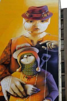 Inti - street artist - Paris 13