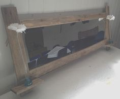 Rectangle driftwood mirror