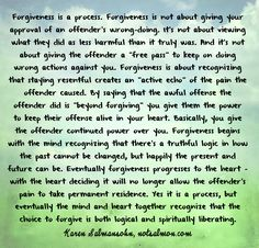 Must remember, forgiveness does not excuse past behaviour, it's about creating peace for yourself in the present. Description from pinterest.com. I searched for this on bing.com/images