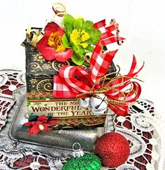 Sweet Holiday Treats #1: Sweet Treats Chocolate Box by Kathy Clement #graphic45 #stnicholas #box #petaloo