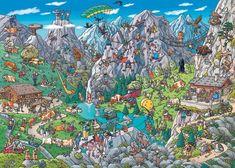 Tanck: Alpine Fun - Jigsaw Puzzle By Heye Lego Marvel, Marvel Avengers, Hidden Object Puzzles, Hidden Objects, Lego Minecraft, Thor, Puzzle Photo, Cartoon Puzzle, Puzzle 1000