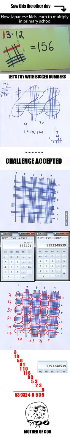 9GAG - Japanese Math - I am absolutely floored by this!!