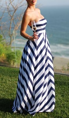Striped Gown by Jessica Simpson