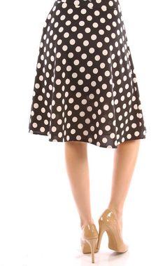 Polka Dot Print Midi Skirt – The Kater Shop