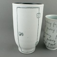 Dustin Yager Door With Hinge Ceramic Mug