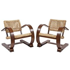 Pair of Audoux Minet Chairs for Vibo