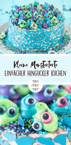 Süße und kleine Monstertorte für Halloween oder Geburtstage Monster Party, Beth Ditto, Halloween Snacks, Recipe For Mom, Kids Corner, Fondant Cakes, Have Some Fun, Breakfast Recipes, Cooking Recipes