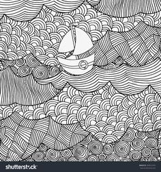 stock-vector-a-lone-boat-sails-floating-on-the-waves-waves-boat-sea-beautiful-art-background-hand-drawn-309912470.jpg (1500×1600)