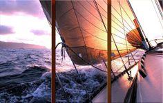 Schilderij de zeilboot, 3 luiks - € 399,00