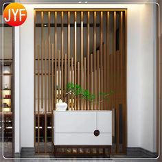 Engineering Custom Electroplated Laser Cut Metal Wall Partitions Decorative Hall Partition Screens - One Living Room Partition Design, Living Room Tv Unit Designs, Living Room Divider, Room Partition Designs, Room Partition Wall, Lobby Interior, Home Interior Design, Wooden Partitions, Partition Screen