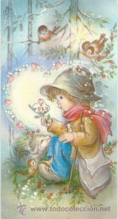 Summer Crafts, Pictures To Paint, Vintage Pictures, Big Eyes, Girl Cartoon, Nursery Rhymes, Victorian Era, Sarah Kay, Vintage Children