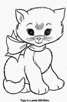HiFlyer Color pg 46 is part of Cat coloring page - HiFlyer Coloring Book Published by Samuel Lowe Company Kenosha, Wisconsin in 1966 Cat Coloring Page, Coloring Book Pages, Coloring Pages For Kids, Coloring Sheets, Kids Coloring, Embroidery Patterns, Hand Embroidery, Embroidery Tattoo, Printable Coloring