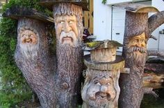 Hey - the Duck Dynasty guys!  Who wouldn't want their garden guarded by these guys?