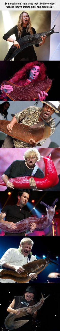 Guitar Replaced With Giant Slug