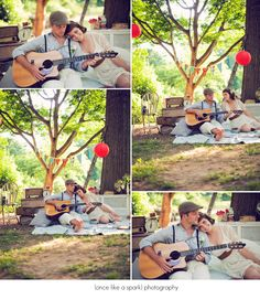 guitar + balloons + e-pics Picnic Photography, Couple Photography Poses, Engagement Photography, Wedding Photography, Prenup Ideas Outfits, Prenup Photos Ideas, Pre Wedding Shoot Ideas, Pre Wedding Photoshoot, Prenup Ideas Philippines