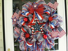 Happy 4th of July Wreath by WreathsEtc on Etsy