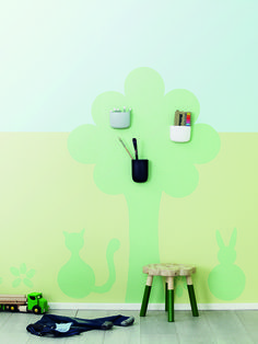 Tikkurila Kids Style - pokój dziecięcy z wykorzystaniem farb tablicowych Tikkurila Liitu w różnych kolorach