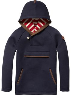 Scotch & Soda - Amsterdam Couture - Habillement, mode et bien plus encore Sweat Shirt, Kids Outfits, Cool Outfits, Neoprene, Red Hoodie, Winter Kids, Fall Jackets, Boy Fashion, Men Sweater