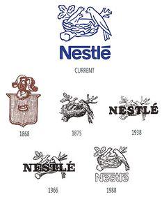 Logos Nestlé de 1868 à 1995  #retro # nestle #retrospective #logo