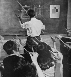Josef Albers teaching at Black Mountain College.