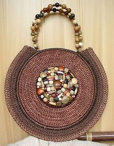 Handbags from satin ribbons (part Discussion on LiveInternet – Russian Ser… – Handwerk und Basteln Tribal Bags, Birthday Gifts For Grandma, Round Bag, Macrame Bag, Unique Bags, Patchwork Bags, Crochet Purses, Knitted Bags, Handmade Bags