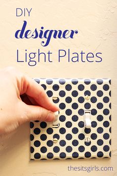 Step by step guide to help you create DIY decorative light switch covers. This is a simple project that can really help to transform a room.