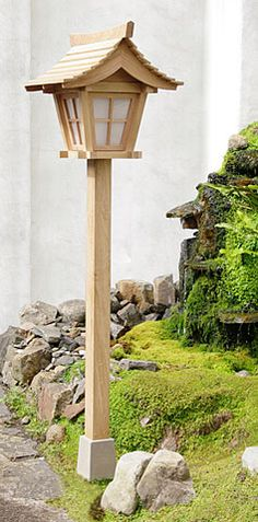Japanese garden lanterns of traditional style, high quality wooden lanterns in treated oak timber Garden Garden backyard Garden design Garden ideas Garden plants Japanese Garden Lanterns, Japanese Lamps, Japanese Garden Design, Wooden Lanterns, Hanging Lanterns, Japan Garden, Pond Design, Garden Lamps, Garden Projects