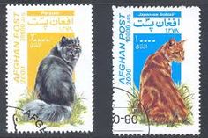 post stamps with cats