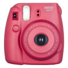Fujifilm instax Mini 8 Instant Film Camera Raspberry ($60) ❤ liked on Polyvore featuring camera, accessories, electronics, fillers and tech