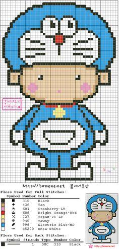 캐릭터 옷입은아이들 _ 십자수도안 : 네이버 블로그