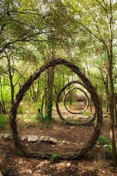 Half the reason these fairytale-looking sculptures are so fascinating is because they have no intention of lasting forever, as artist Spencer Byles cleverly intended. While exploring the forests in the region of Alpes-Maritimes in France, he created several of these whimsical designs with only natural materials and man-made objects, scattering them throughout three different pieces of land.   See more of these nature-inspired creations »   - HouseBeautiful.com