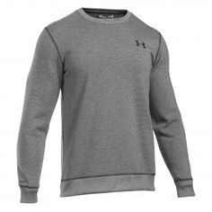 Under Armour Storm Rival Fleece Crew trui heren grey De Wit Schijndel @underarmour #trui #sweater #underarmour #fitness #sport